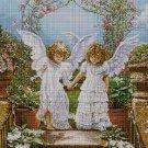Little angels cross stitch pattern in pdf DMC
