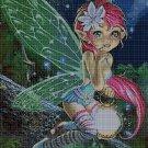 Little fairy cross stitch pattern in pdf DMC