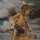Native American Rain dance 2 cross stitch pattern in pdf DMC