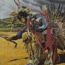 Native American Rain dance 3 cross stitch pattern in pdf DMC
