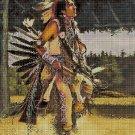Native American Rain Dance cross stitch pattern in pdf DMC