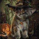The witch's cat cross stitch pattern in pdf DMC