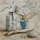 Vintage still life cross stitch pattern in pdf DMC