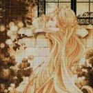 Anime Rapunzel cross stitch pattern in pdf DMC