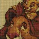 Lion King cross stitch pattern in pdf DMC