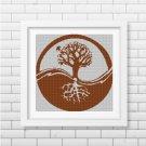 Tree silhouette cross stitch pattern in pdf