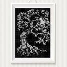 Tree 2 silhouette cross stitch pattern in pdf