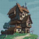 A fabulous house cross stitch pattern in pdf DMC