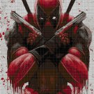 Deadpool cross stitch pattern in pdf DMC