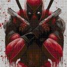 Deadpool cross stitch pattern in pdf DMC