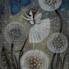 Dandelion Fairy cross stitch pattern in pdf DMC