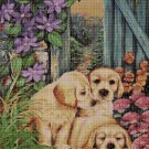 3 dog cross stitch pattern in pdf DMC