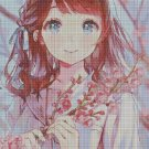 Anime girl 3 cross stitch pattern in pdf DMC