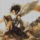 Elf boy cross stitch pattern in pdf DMC