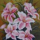 Lilies 2 cross stitch pattern in pdf DMC