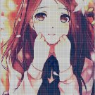 Anime girl 4 cross stitch pattern in pdf DMC