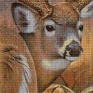 Deer head cross stitch pattern in pdf DMC