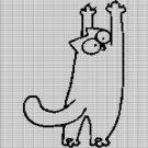 SIMON'S CAT CROCHET AFGHAN PATTERN GRAPH
