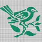 BIRD ON BRANCH 3 CROCHET AFGHAN PATTERN GRAPH