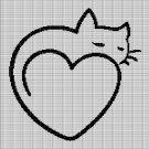CAT LOVE 2 CROCHET AFGHAN PATTERN GRAPH