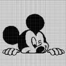 MICKEY MOUSE HEAD 2 CROCHET AFGHAN PATTERN GRAPH