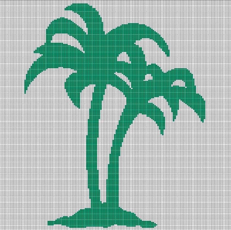 palm tree crochet afghan pattern graph