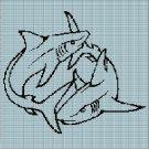 SHARKS CROCHET AFGHAN PATTERN GRAPH