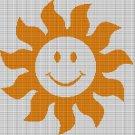 SUN CROCHET AFGHAN PATTERN GRAPH