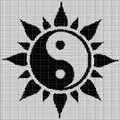 YIN-YANG SUN CROCHET AFGHAN PATTERN GRAPH