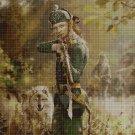 A Soldier's elf cross stitch pattern in pdf DMC
