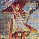 Anime-wind cross stitch pattern in pdf DMC