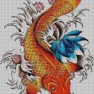 Carpa-koi-fish cross stitch pattern in pdf DMC