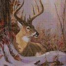 Deer head 2 cross stitch pattern in pdf DMC