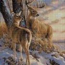 Deers 2 cross stitch pattern in pdf DMC