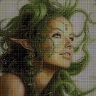 Elf girl cross stitch pattern in pdf DMC