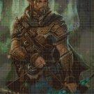 Elf warrior cross stitch pattern in pdf DMC