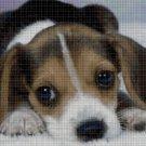 Little beagle cross stitch pattern in pdf DMC
