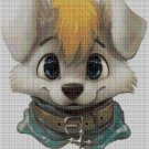 Little dog head cross stitch pattern in pdf DMC