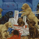 Little Dogs Christmas cross stitch pattern in pdf DMC