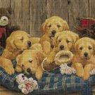 Little dogs cross stitch pattern in pdf DMC