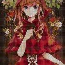 Little Red Ridding Hood cross stitch pattern in pdf DMC