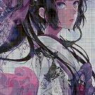 Manga girl cross stitch pattern in pdf DMC