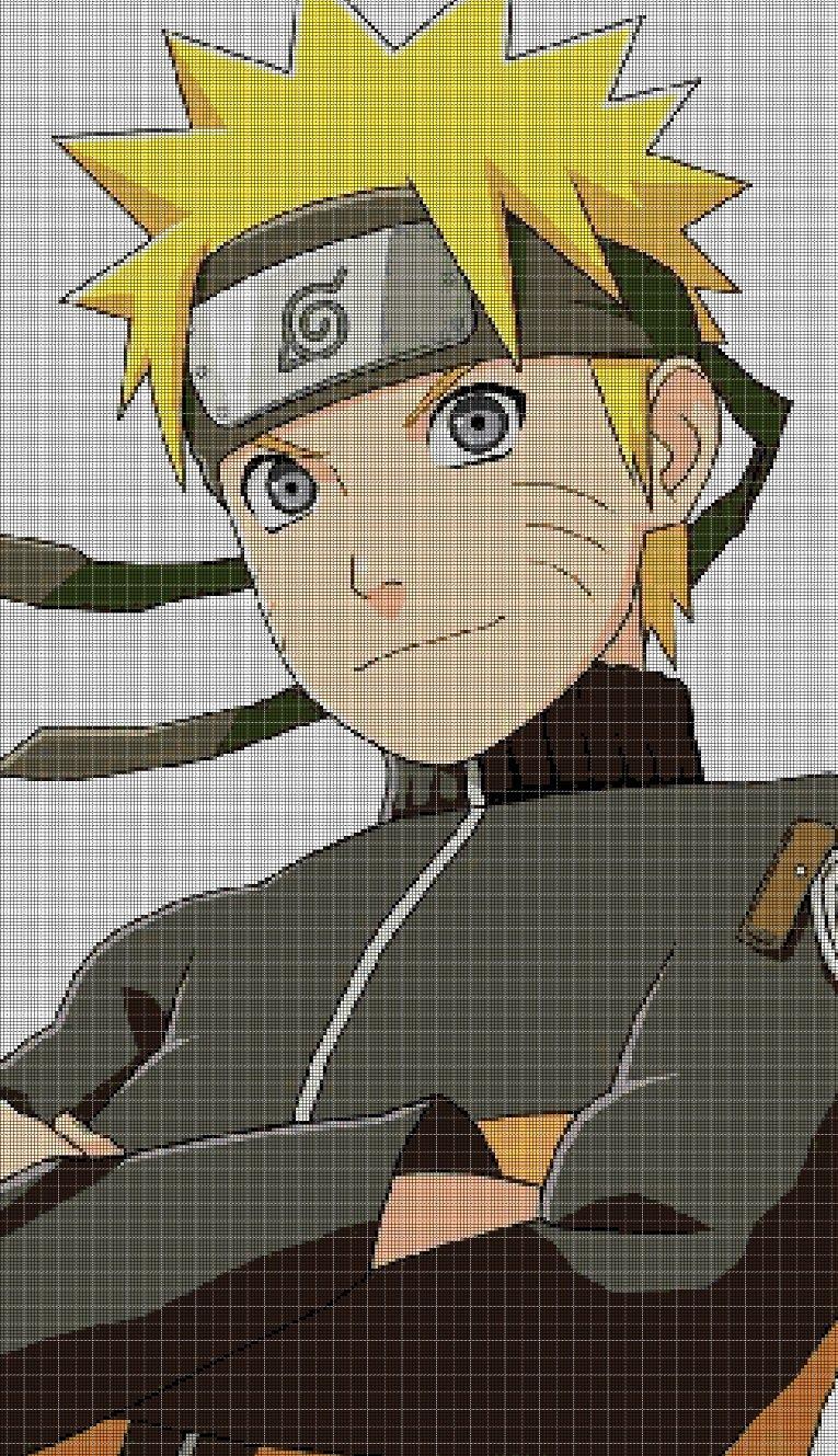 Naruto2 cross stitch pattern in pdf DMC