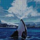 Orca cross stitch pattern in pdf DMC