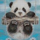 Panda baby cross stitch pattern in pdf DMC