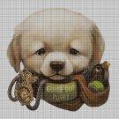 Puppy 2 cross stitch pattern in pdf DMC