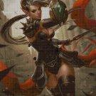 Warrior Lady cross stitch pattern in pdf DMC