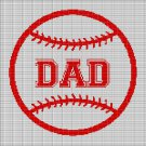 BASEBALL DAD CROCHET AFGHAN PATTERN GRAPH