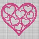 HEARTS 2 CROCHET AFGHAN PATTERN GRAPH