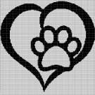 LOVE PET PAW CROCHET AFGHAN PATTERN GRAPH